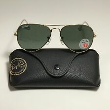 New Ray-Ban Aviator Classic Gold RB3025 001/58 58-14 58mm POLARIZED Green G15