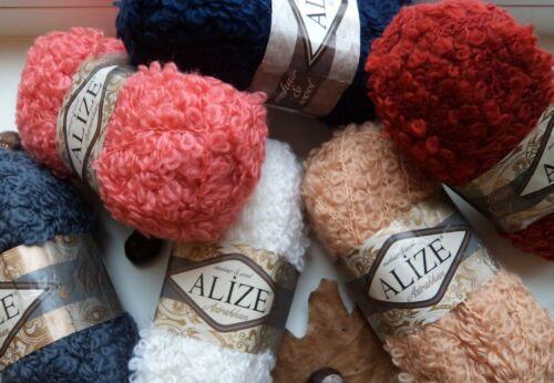Fil ALIZE astrakan Fil Bouclette FILS ratiné fil Pongé fil Ratte Yarn Art