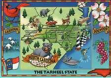 North Carolina, The Tarheel State, Raleigh, Charlotte etc. -- State Map Postcard