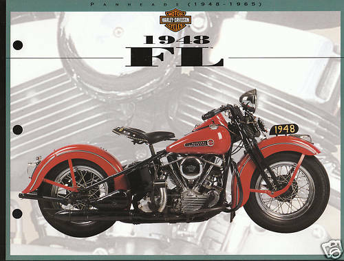 "1948 HARLEY-DAVIDSON FL MODEL 8.5 X 11/"" Print Photo Sheet"