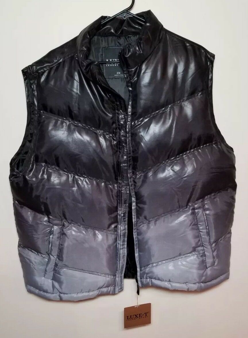LUX-T LUXURY SPORT MEN'S VEST SIZE 2X (RUNS SMALL) CHEST MEASURES 24 NEW   TAGS