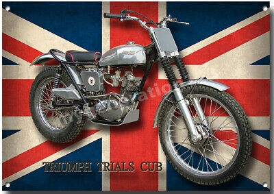 TRIUMPH 1966 TR6SC MOTORCYCLE METAL SIGN CLASSIC BIKES A4