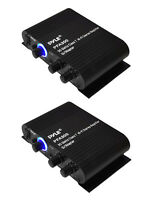 2) Pyle Pfa300 180w 2 Channel Hi-fi Home Audio Stereo Speakers Amplifiers W/aux on sale