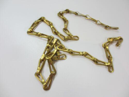 Original Vintage Brass Lighting Chain Hanger Loop Chandelier Light Pull 56cm
