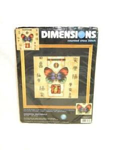 Dimensions-Oriental-Butterfly-Counted-Cross-Stitch-Kit-Asian-Chinese-Characters
