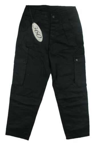 Three Sixty 360 Y800 Youths Black Loose Fit Chino Cargo Pant Trouser Skate Mens
