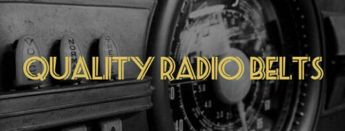 Quality radio belts for Zenith and thousands of others GUARANTEED FREE SHIPPING
