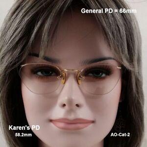 AO-Numont-Crossley-True-Antique-Cat-Eye-Eyeglasses-amp-Case-12K-Gold-Fill