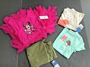 Girls-Clothes-Size-5T-Bundle-Of-4-Pcs-Disney-Themed-All-NEW-AB47