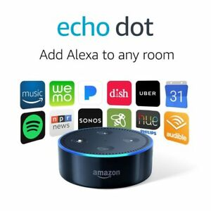 Details about AMAZON ECHO DOT (2nd Generation) WITH ALEXA SMART ASSISTANT -  BLACK - NEW SEALED