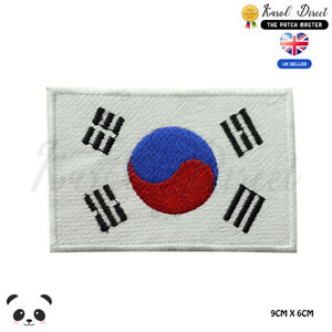 South-Korea-National-Flag-Embroidered-Iron-On-Sew-On-Patch-Badge-For-Clothes
