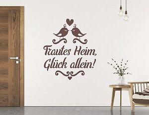 Wandspruch familie wandtattoo wohnzimmer flur trautes heim gl ck allein pkm57 ebay - Wandspruche wohnzimmer ...