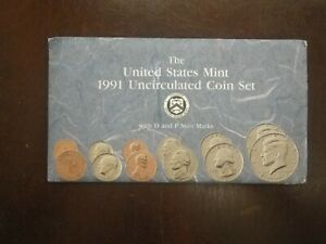 1991 United States Mint Uncirculated Coin Set with D and P Marks