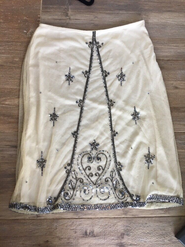 Anthropologie New Anna Sui Beaded Skirt Great Gatsby 2