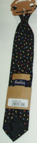 Tie Necktie Clip On Boys Pre-Tied Kid Proof Washable 14 inch New Holiday Youth