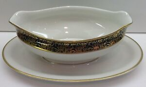 Royal-Cathay-China-LAUREL-MAGNOLIA-Gravy-Boat-amp-Underplate-EXCELLENT-CONDITION
