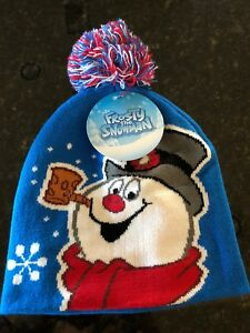 7decf03a4 Details about Frosty The Snowman Christmas Pom Beanie Knit Hat Skully Skull  Cap NWT BRAND NEW