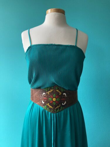Emerald Green 1970s Disco Gown