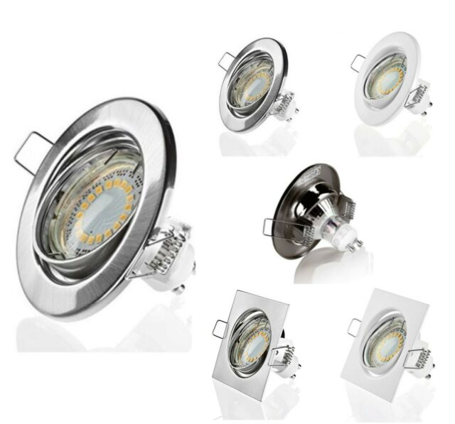 Einbaustrahler SMD LED Leuchte 3W 5W GU10 Einbauled Schwenkbar Einbauspot 220V A
