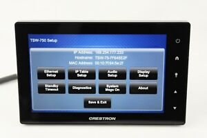 Crestron-TSW-750-B-S-7-034-Touch-Panel-Touch-Screen-Control-Unit-Black