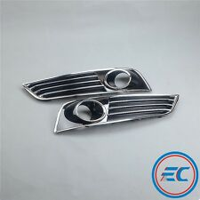 New Pair Chrome Front Bumper Lower Side Grill ACC Sensor Grilles For AUDI A8 D4