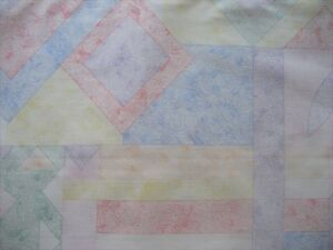 SEWING-CRAFT-FABRIC-13mtrs-1-join-x-32cm-Short-Width-Geometric-Print-in-Pastels