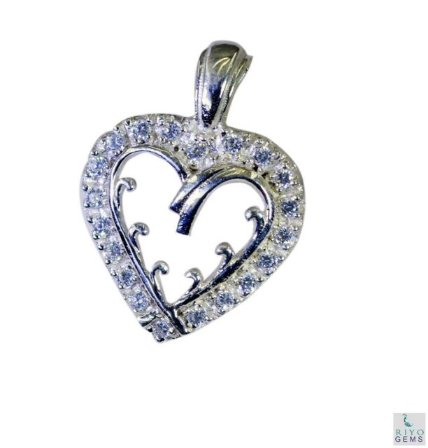 appealing White CZ 925 Sterling Silver White Pendant genuine jewelry US gift