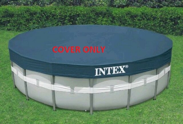 Intex 22 Ft Debris Pool Cover for Ultra Frame Round Swimming Pool