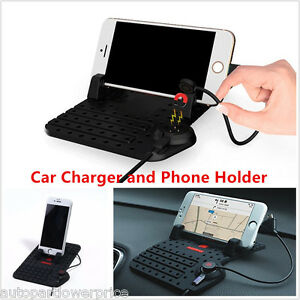 Car-Silicone-Holder-Dashboard-Stand-USB-Fast-Charger-Cradle-Stand-For-All-Phones