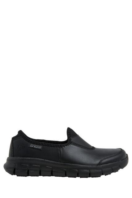 NEW Skechers Sure Track Slip On 76536 Black/Black Sneaker Black