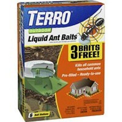 NEW TERRO Ant Killer Bait Stations 6-Pack T1806-6