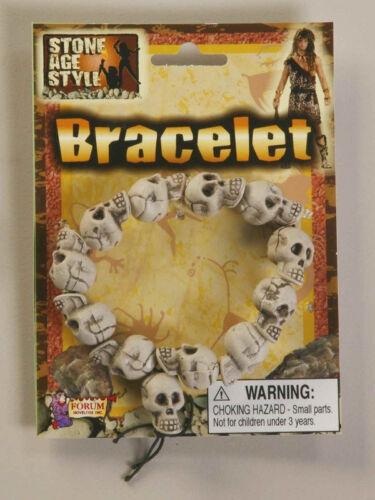 Skull Bracelet Stone Age Style Caveman Fancy Dress Halloween Costume Accessory