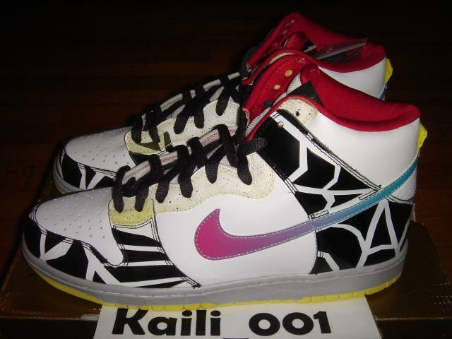 Nike Dunk High Premium SB Size 12 Thrashin 313171-141 Skunk Unkle RESN Supreme B