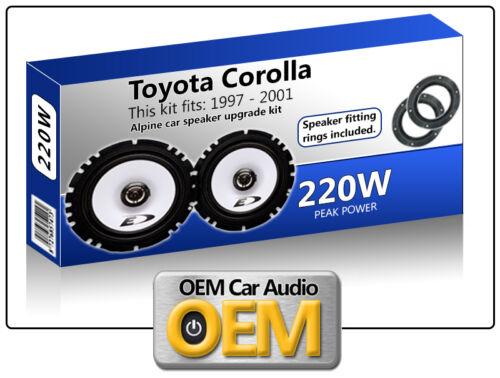 """Toyota Avensis Puerta Frontal Altavoces Alpine De 6.5 /"""" 17cm altavoz para automóvil Kit 220w Max"""