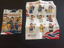 LEGO TEAM GB LONDON OLYMPICS  RARE MINIFIGURE SET COMPLETE SET OF 9 Ltd Edition