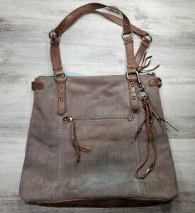 65ff393e73b Details about THE SAK Whiskey Brown Leather Tote Purse Bucket Shopper Large  Shoulder Bag