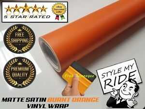 3M-x-1-52M-Matte-Burnt-Orange-Vinyl-Wrap-w-Air-Release-Bubble-Free-Application