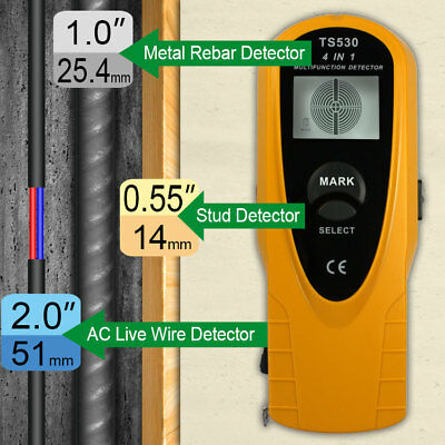 Digital Wall Wood Stud Finder AC fil Pinpoint Détecteur de métal 3 en 1 écran LCD