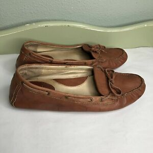 Frye-Shoes-Loafers-Slip-Ons-Women-Size-10M-Brown-Leather-Upper