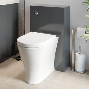 Modern Bathroom Toilet WC Concealed Cistern Unit ONLY Grey 500mm