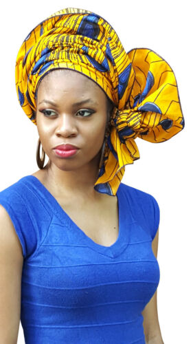 100/% Cotton DPH3816 Peacock African Print Ankara Head wrap Tie scarf