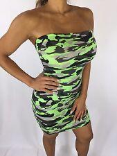 Connie's Sexy Green Camouflage Mini Tube Dress or Bikini cover up S/M