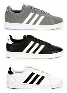 adidas grand court men comfy leather classic cloudfoam