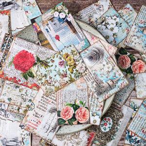 31stk-5-7cm-Vintage-Aufwendig-Blume-Papier-Hintergrund-DIY-Scrapbooking-Album
