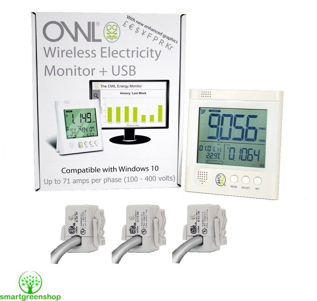 Owl + usb cm160 insTailletion CEE, max 3 x 71a electric energy meter