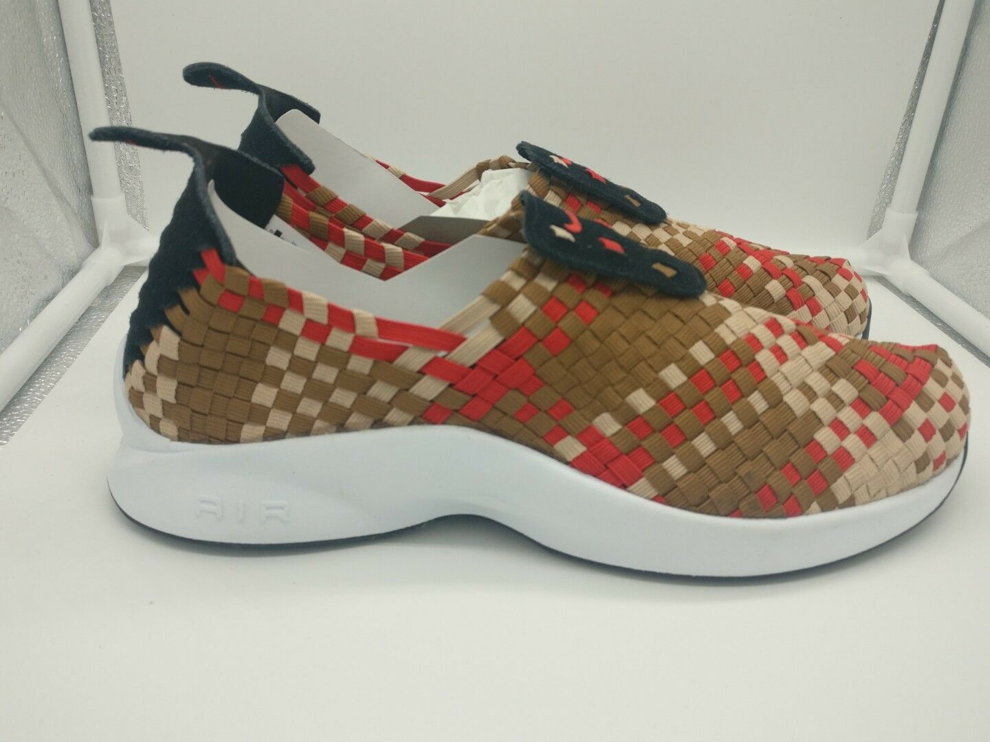 Nike Air Woven Black University Red Ale Brown 312422004 RARE