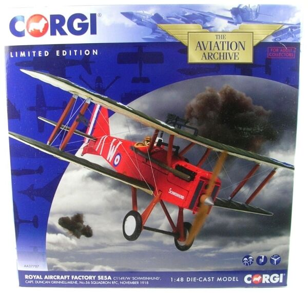 Royal Aircraft Factory se5a, c1149 w (Pig Dog) Capt. Grinnell-Milne-no. 56