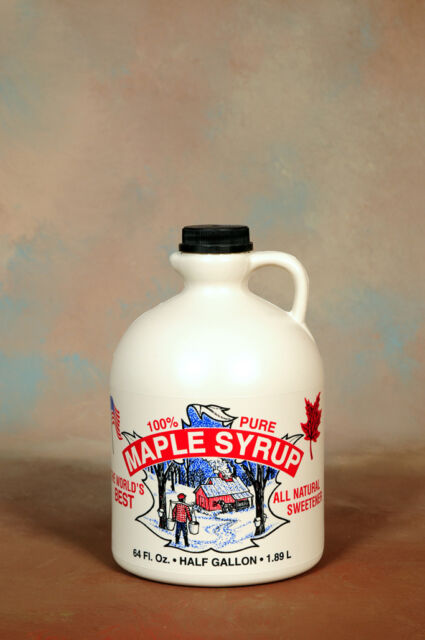 Half Gallon Maine Pure Maple Syrup Grade A Certified Organic    1.89L 64 OZ
