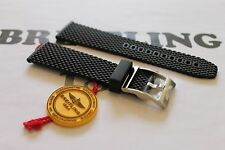 100% Genuine OEM Breitling Black Ocean Classic Rubber Tang Buckle Strap 24-20mm