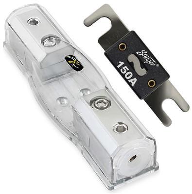 Stinger Inline 4 Gauge AWG Shoc-Krome Water Resistant MIDI Fuse Holder SHD801